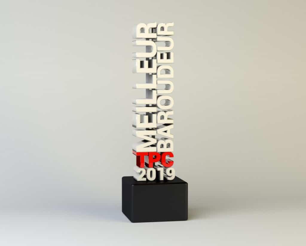 Trophée 3D Le meilleur baroudeur